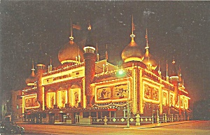 Mitchell Sd Corn Palace At Midnight Postcard P33643