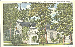 Camp Grant Il St Paul S Chapel Postcard P33662