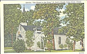 Camp Grant IL St Paul s Chapel postcard p33662 (Image1)