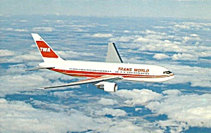 TWA Trans World Airlines  767  in flight p33668 (Image1)