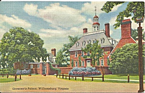 Williamsburg Va Governor S Palace Postcard P33670