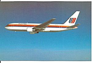 United Airlines 767 N603UA postcard p33674 (Image1)