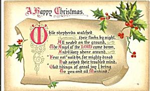 Raphael Tuck  Christmas Hymns Series postcard p33683 (Image1)