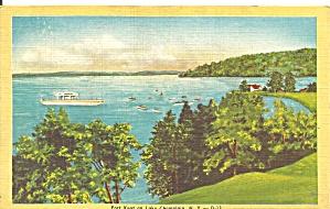 Lake Champlain NY Port Kent postcard p33695 (Image1)