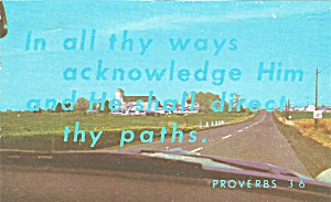 Verse from Proverbs 3:6 In all thy ways  postcard p33702 (Image1)