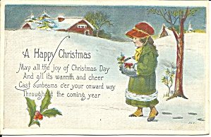 Christmas Card from 1920 postcard p33716 (Image1)