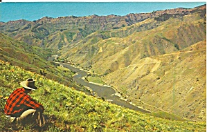 Hell S Canyon Gorge Snake River Postcard P33726