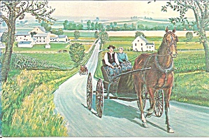 Amish Courting Carriage by  H J Loewan Sr p33730 (Image1)