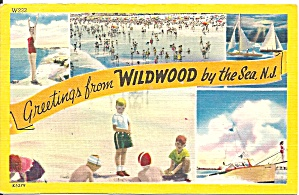 Wildwood By The Sea Nj Views Postcard P33734