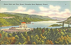 Columbia River Highway Or Crown Point Postcard P33735