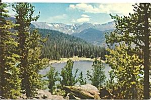 Mt Evans and Echo Lake CO postcard p33747 (Image1)