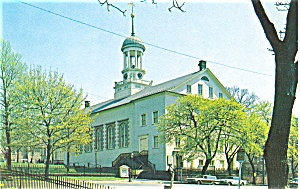 Central Moravian Church Bethlehem Pa Postcard P3377