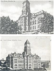 Pottsville PA Court House Postcards Lot of 2 p3391 (Image1)