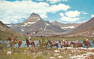 Trail Riders at Many Glacier, Glacier National Park MT p34062 (Image1)