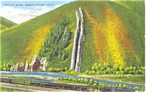 Devils Slide Weber Canyon Utah Postcard p3411 (Image1)