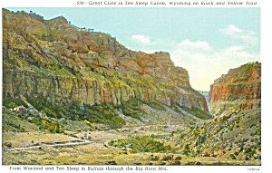Ten Sleep Canon Wyoming Postcard p3414 (Image1)