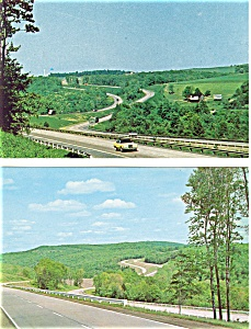 I 80 Highway Scenes in PA Postcards Lot of 2 p3417 (Image1)