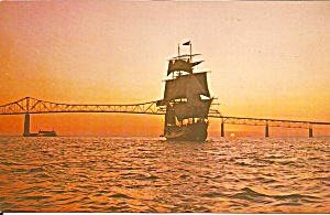 St Petersburg FL The Bounty Under Sail at Twilight p34209 (Image1)
