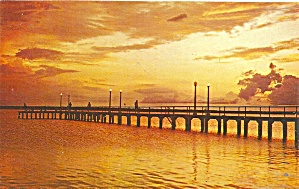 Sebring, FL Lake Jackson Pier at Dusk p34211 (Image1)
