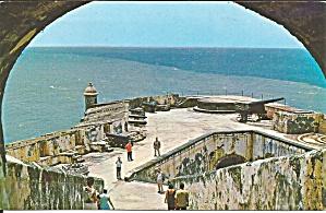 Ft Morro Puerto Rico postcard p34283 (Image1)