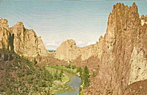 Crooked River Oregon Union Oil Postcard p34313 (Image1)