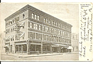 Johnstown Pa Crystal Hotel 1906 P34350