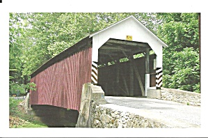 Lancaster Cty Pa Siegrists Mill Covered Bridge P34407
