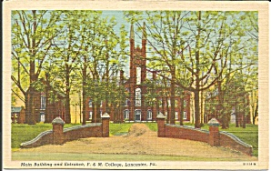Lancaster PA F and M College Main Building p34412 (Image1)