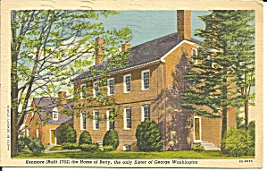 Fredericksburg Va Kenmore Home Of Betty Washington P34420