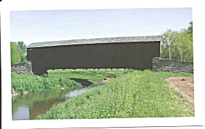 Lancaster Cty Pa Weaver S Mill Covered Bridge P34436