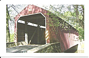 Lancaster Cty Pa Zook S Mill Covered Bridge P34442