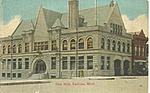 Cadillac Mi City Hall P34488
