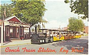 Conch Tour Train Key West FL Postcard p3448 (Image1)