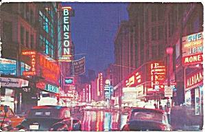 Boston MA Washington St at Night p34523 (Image1)