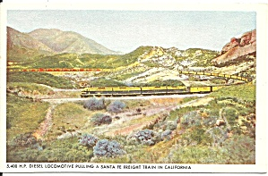 Sante Fe Diesel Locomotive Freight Train California p34550 (Image1)