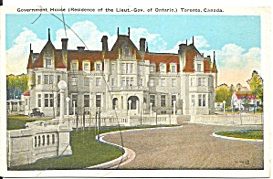 Toronto On Canada Government House P34567