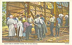 Lancaster Cty, PA Barn Raising p34571 (Image1)