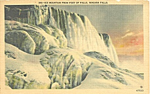 Niagara Falls Ice Mountain At Foot Of Falls P34636