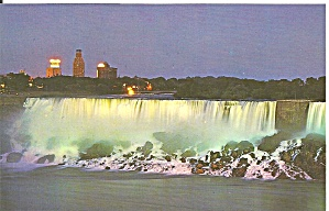 Amrican Falls At Night Niagara Fall Ontario Canada P34715
