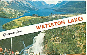 Waterton Valley And Cameron Falls P34722