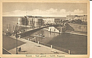 Taranto Italy Point Gireuole And Castle Araganese P34781