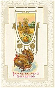 Thanksgiving Turkey and Corn Postcard p3479 (Image1)