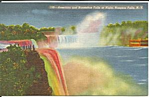 American Falls and Horseshoe Falls at night p34947 (Image1)