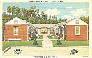 Attalla AL Browns Motor Court Motel p34950 (Image1)