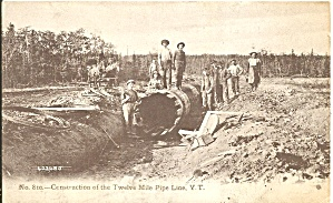 Construction Of 12 Mile Pipe Line Yukon Territory P34953