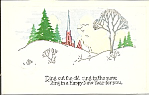 Ring In A Happy New Year Postcard
