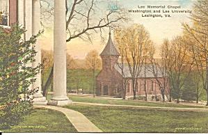 Washington Lee University  Lee Chapel Hand Colored p35013 (Image1)
