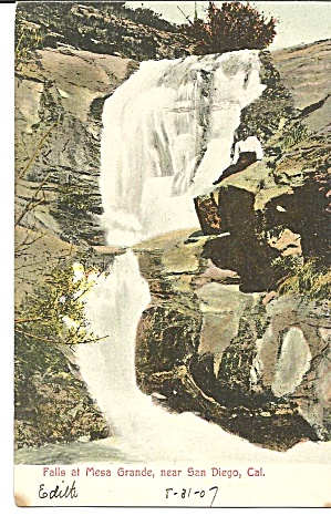 Falls Of The Mesa Grande, San Diego Ca 1907 P35041