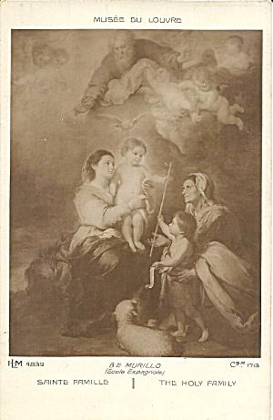 Bartolomé Esteban Murillo s The Holy  Family postcard p35043 (Image1)