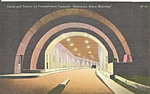 Portal And Tunnel On The Pennsylvania Turnpike P35053